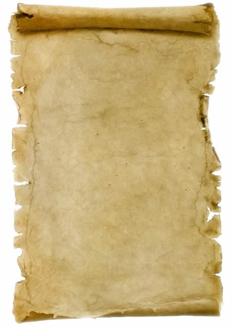 pergamena su cui scrivere